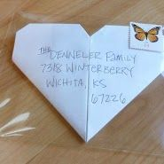Project Denneler: Heart-shaped letters in clear envelopes Kindness Projects, Goal Board, Fun Mail, Envelope Art, Write It Down, God Loves Me, Happy Mail, Letter Writing, Mail Art