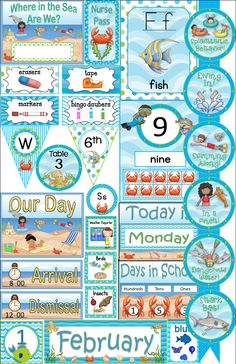 Ocean theme décor kit!  Beautiful! Over 400 pages!