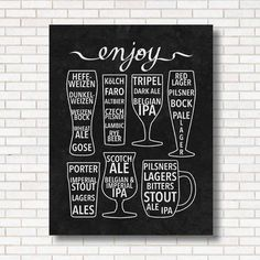 A beer guide by the glass.