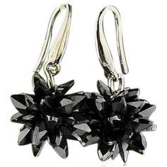 Floria - CZ Diamond Sterling Silver Flower Shape Drop Earrings