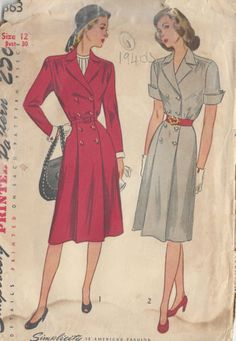 1946 Vintage Sewing Pattern