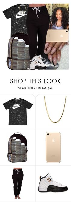 """Untitled #1106"" by msixo ❤ liked on Polyvore featuring NIKE, Sprayground and Retrò"