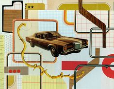 by Bill Zindel. or maybe Kaue Garcia? Cut And Paste, Collage, Creative, Scissors, Journal, Illustrations, Artists, Patterns, Paper