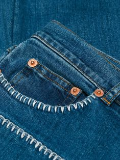 Sticken See By Chloé embroidered front pocket jeans Capture Red Carpet Looks with Pageant and Prom D Embroidery On Clothes, Embroidered Clothes, Diy Embroidered Jeans, Jean Embroidery, Diy Embroidery On Jeans, Diy Jeans, Diy Clothing, Custom Clothes, Broderie Anglaise Fabric