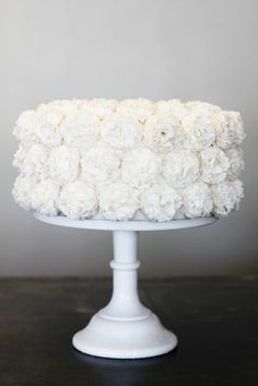 Gorgeous cake that's good for any occasion! For the Sip & See, you could put a couple of pink peonies or zinnias on top.