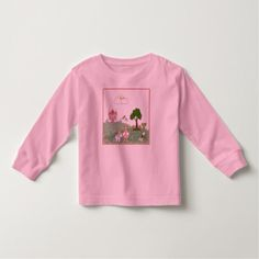 Unicorn Birthday Favors Princess and her castle toddler t-shirt