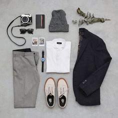 Too cool for school Zara trousers, shirt and blazer / Skagen watch / Vans shoes / American Apparel beanie... #menswear #clothing #style