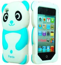 Cute 3D Animal Sky Blue Panda silicone Case for iPod Touch 4th Generation 4g