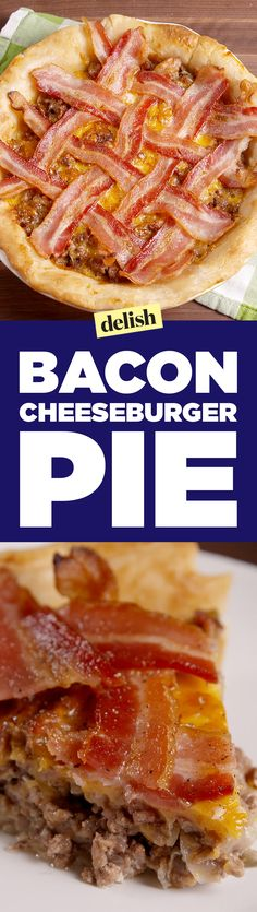 This bacon cheeseburger pie is the coolest food mash-up we've ever made. Get the recipe on Delish.com.