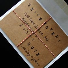 Items similar to Boxes and Bows Moving Announcements on Etsy Moving New House, Moving Day, Moving Tips, Paper Cards, Diy Cards, New Home Cards, Boxes And Bows, Moving Boxes, Moving Announcements