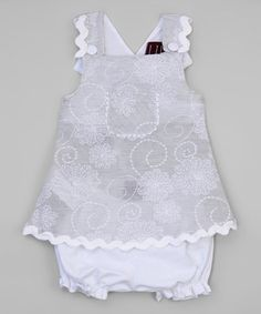 Another great find on #zulily! Silver Swirl Wrap Jumper & Bloomers - Infant & Toddler #zulilyfinds