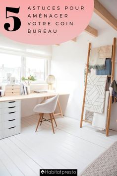Rentrée 2020 : 5 astuces pour bien aménager votre coin bureau bureau de travail à la maison, bureau chambre, bureau ado, deco bureau cocooning, inspiration chambre, rangement bureau, chambre bureau inspiration, home office ideas, bedroom ideas, home school room