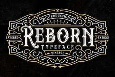 Reborn Layered Typeface + Extras from FontBundles.net