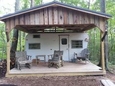 Rv Shelter, Tent Camping Beds, Camping Storage, Rv Carports, Deer Camp, Rv Homes, Hunting Cabin, Coyote Hunting, Pheasant Hunting