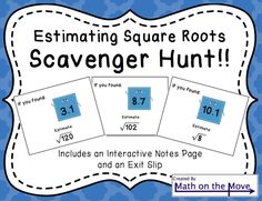 Students approximate irrational numbers in this fun activity. Interactive notes page and assessment included.