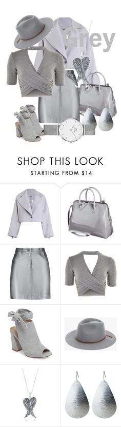"""Grey"" by anyme ❤ liked on Polyvore featuring Zimmermann, Pierre Balmain, Topshop, Kristin Cavallari, 7 For All Mankind, La Preciosa and Daniel Wellington"