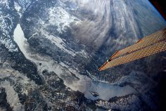 Lake Baikal, Siberia, Russia, photographed by astronaut Chris Hadfield, aboard the ISS, on February 26, 2013.