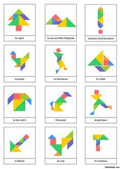 Page de dessins d'animaux à réaliser avec jeu Tangram