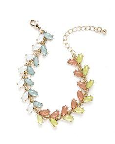 Mulitcolor Facet Rhinestone Bracelet
