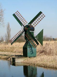 Polder mill De Kleine Veer, Haarlem-Penningsveer, the Netherlands.