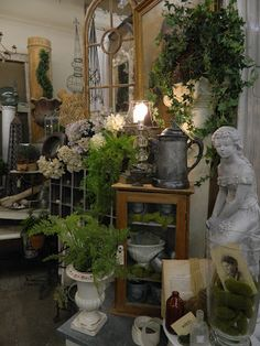 display of nice garden items - at the Sweet Salvage Sale in Phoenix