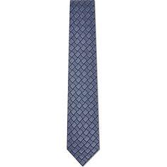 LANVIN Alternate patterned squares tie (Blue