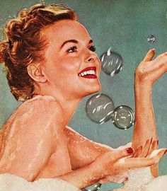 Bubble bath fun...