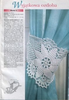 Plus diagam Crochet Home Decor, Crochet Art, Thread Crochet, Filet Crochet, Irish Crochet, Crochet Doilies, Crochet Stitches, Crochet Patterns, Crochet Curtains