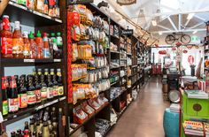 Lots of delicious groceries and gifts and homewares for you to choose from Byron Bay, Asian Recipes, Liquor Cabinet, Red, Furniture, Store, Gifts, Home Decor, Presents