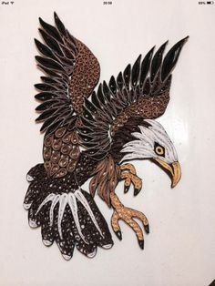 Quilled by Tina Gorton...The Eagle ...