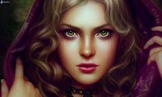 rostro de mujer hermosa, caricatura de cara
