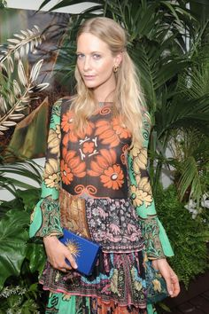 chopardredcarpet:  We love poppy Delevingne's floral look while wearing our new Palme Verte Collection earrings made in Fairmined gold