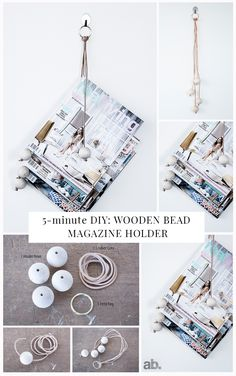 Very simple and cheap to make, this DIY wooden bead magazine holder will be a talking point with friends. All you need is a few cheap items and you are ready to start making. Full instructions on the blog :-)