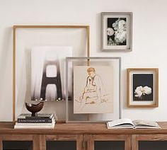 Placed between the two clear panes of our Floating Gallery Frame, photos take on a dramatic effect. The clean, contemporary silhouette layers especially well set against a colored wall and blends in easily with other styles. DETAILS YOU&rsqu A Frame Cabin, A Frame House, Gallery Wall Frames, Frames On Wall, Gallery Walls, Box Frames, Unique Photo Frames, Picture Frames, Rustic Design
