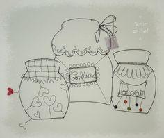 Décoration pots de confiture en fil de fer : Accessoires de maison par latelierdesof