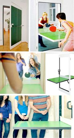 We have found the BEST dining table solutions for small spaces. We have filmed a ton of tiny homes. These are the best space saving ideas we could find. Folding Walls, Folding Furniture, Space Saving Furniture, Furniture For Small Spaces, Smart Furniture, Dining Table Small Space, Dining Tables, Door Table, Transforming Furniture