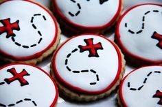 Treasure map cookies