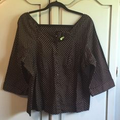Lane Bryant Cute summer top by Lane Bryant. Fun buckle detailing at neckline. Dry cleaned only. Size 14/16. Lane Bryant Tops Button Down Shirts
