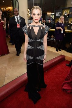 Inside the Golden Globes: Riley Keough in Chanel and Chanel Fine Jewelry