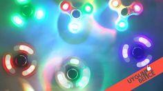 Işıklı Stres Çarkı Hand Spinner Light Fidget Spinner Colorful Lighting u...