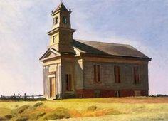 Truro Church Sud - (Edward Hopper)