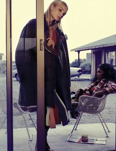 """Match Your Style"" Chanel Iman & Jessica Stam photographed by Michel Comte for Vogue Italia November 2016 Stylists: Giulio Martinelli & Aya Ko Yoshida #inspiration #blog #blogger #tumblr #fashion #style #models #photography #vogue http://www.midnight-charm.com/"