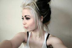 Black and white hair