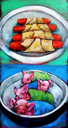 """Is Pigs (disambiguation) """"Pigs Is Pigs"""" is a story by American writer Elis Parker Butler, first published in Pigs Is Pigs may also refer to: Vegan Memes, Vegan Humor, Why Vegan, Vegan Vegetarian, Vegan Food, Veggie Images, Vegan Art, World Hunger, Pigs In A Blanket"""