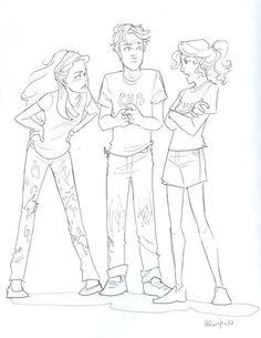 Percy Jackson Fan Art | Percy Jackson vs Harry Potter girlfight PJatO style