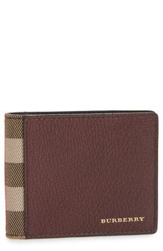 Burberry Check Leather Wallet available at #Nordstrom #Wine
