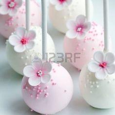 pastel de bodas: Cake pops boda en rosa y blanco