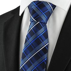 Men's Checked Pattern Necktie for Wedding Holiday Gift  – USD $ 7.19