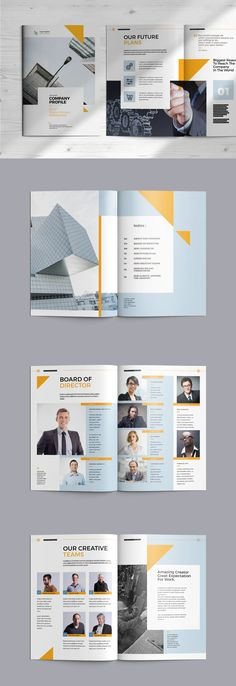 Company Profile Template InDesign INDD - A4 Web Layout, Layout Design, Company Profile Design Templates, Layout Template, Portfolio Design, A4, Engineering, Branding, Construction