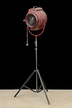 Vintage Bardwell & McAllister (Hollywood, CA) Spotlight From The Culver Studios, CA On New Tripod Stand. Four Available.